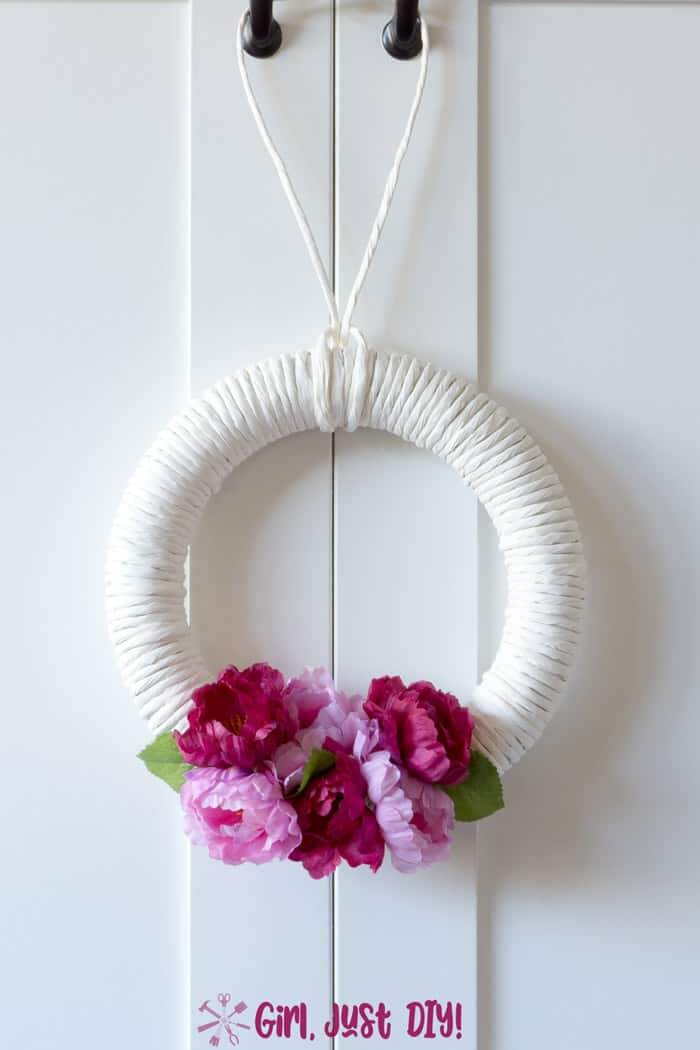 bright and colorful spring wreath