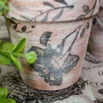 easy floral Dollar Tree Stamped Terra Cotta Pots