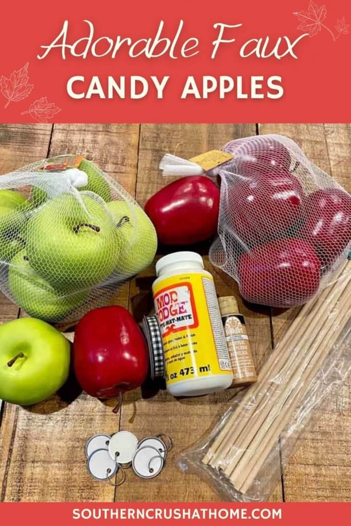 faux candy apple supplies