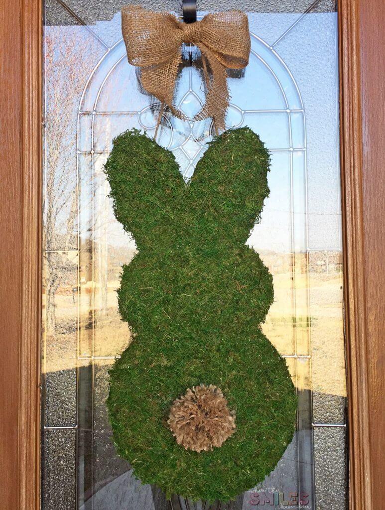 moss bunny spring wreath