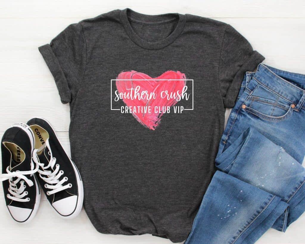 Southern-Crush-Creative-Club-VIP-Shirt Charcoal
