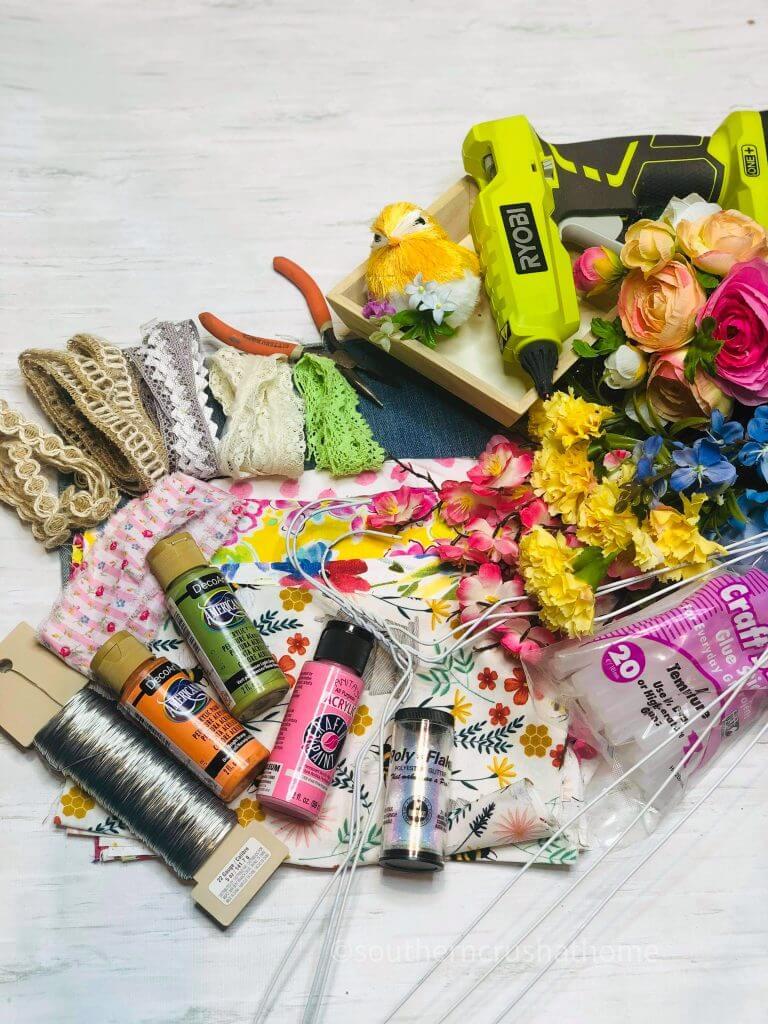 diy birdcage craft supplies