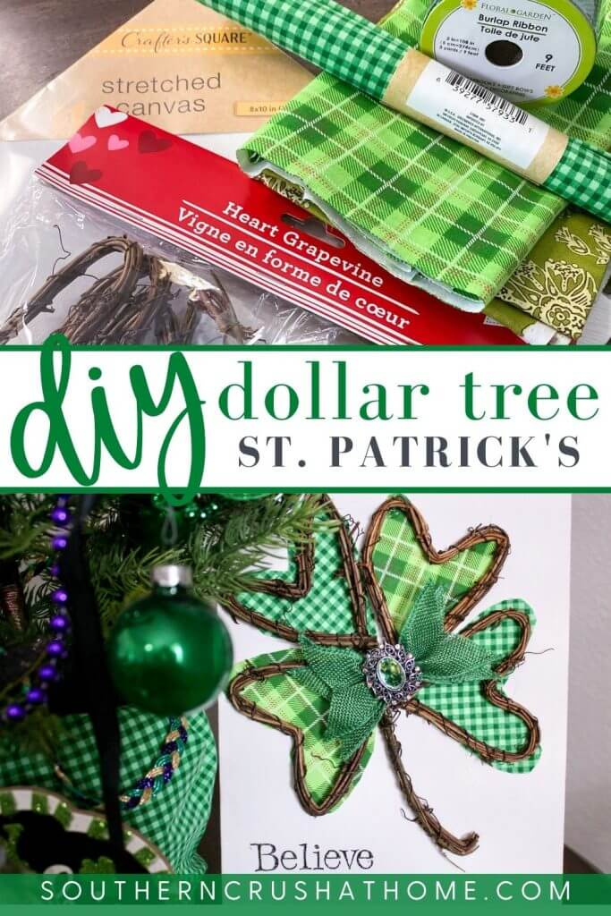 dollar tree st patricks day craft pin