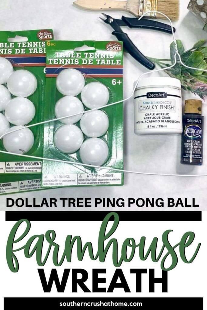 DT Ping Pong Ball Wreath PIN