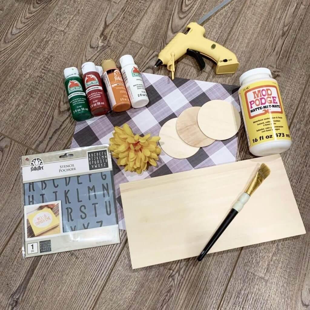 supplies for fall shelf sitter