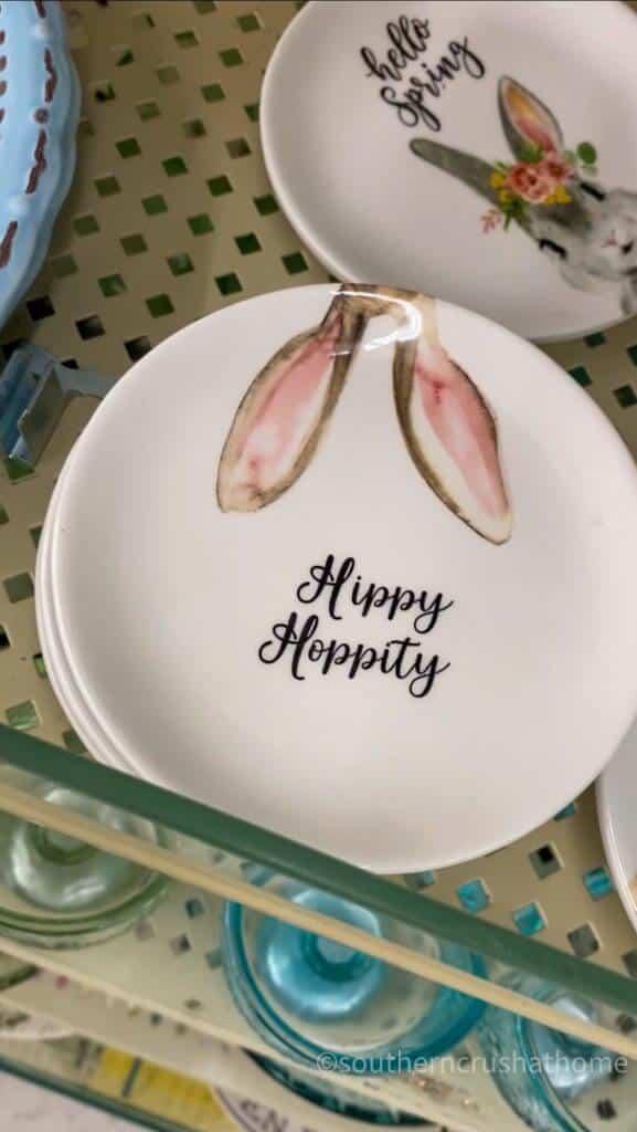 hippy hoppity plate with bunny ears