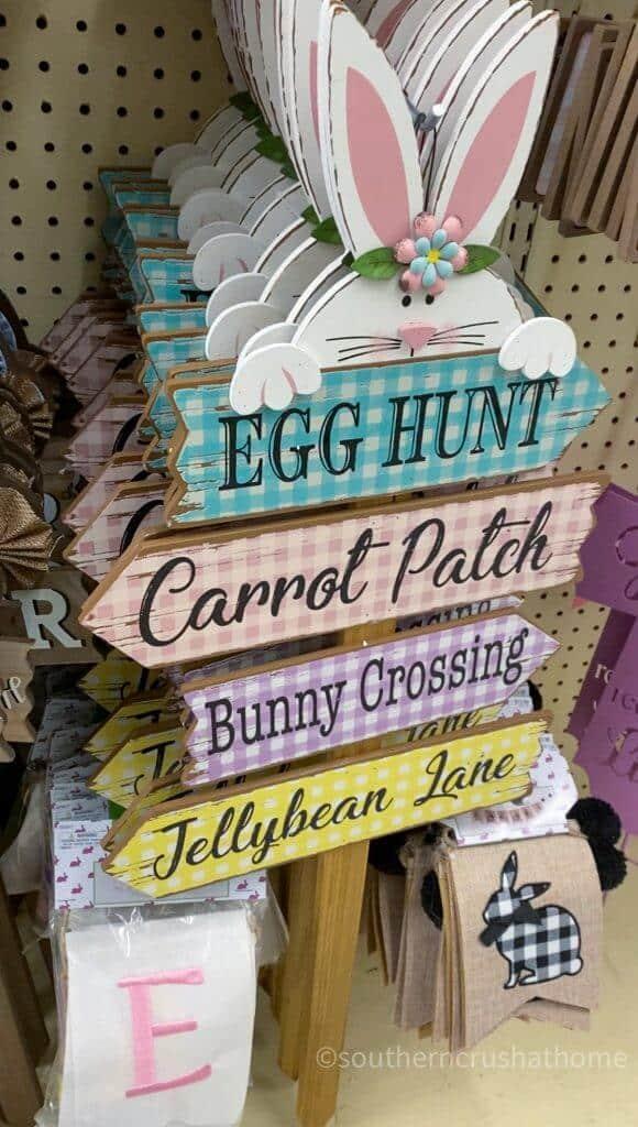 egg hunt carrot patch bunny crossing jellybean lane yard sign