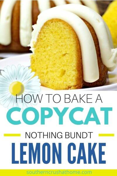lemon bundt cake recipe pin