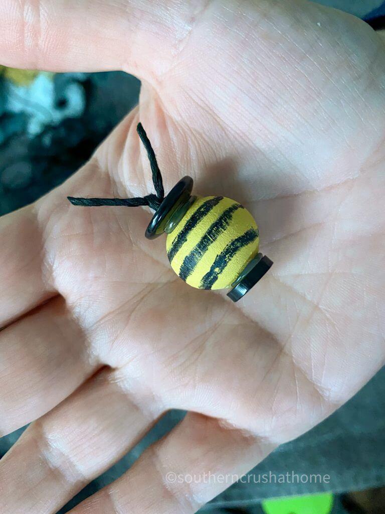 Rae Dunn inspired bumblebee diy bumblebee