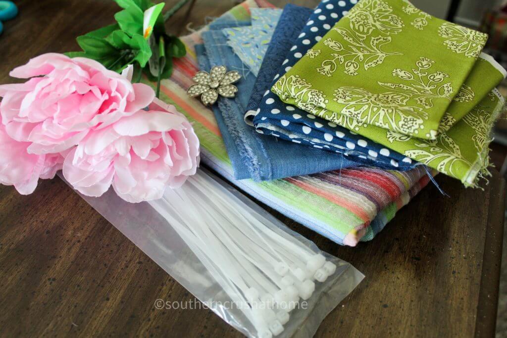 messy bow pillow wrap diy supplies