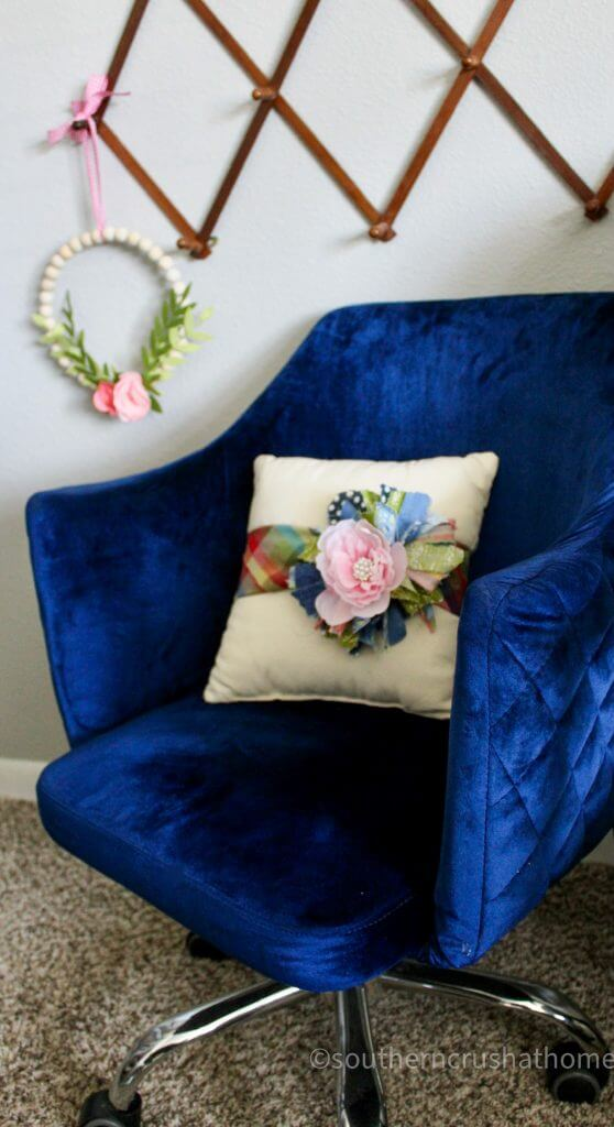 messy bow pillow wrap diy styled in chair