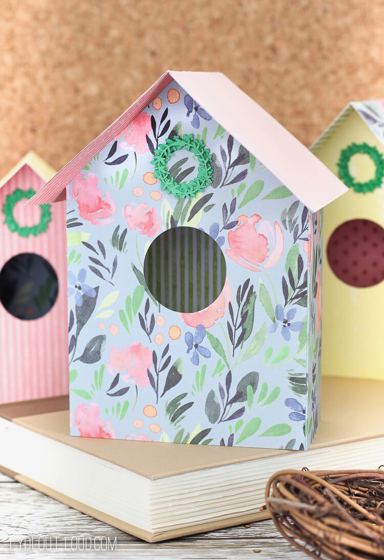 cricut paper bird house
