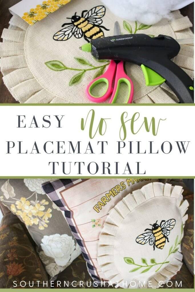 Placemat Pillow PIN  supplies and final