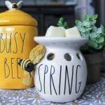 Rae Dunn inspired bumblebee diy spring wax warmer