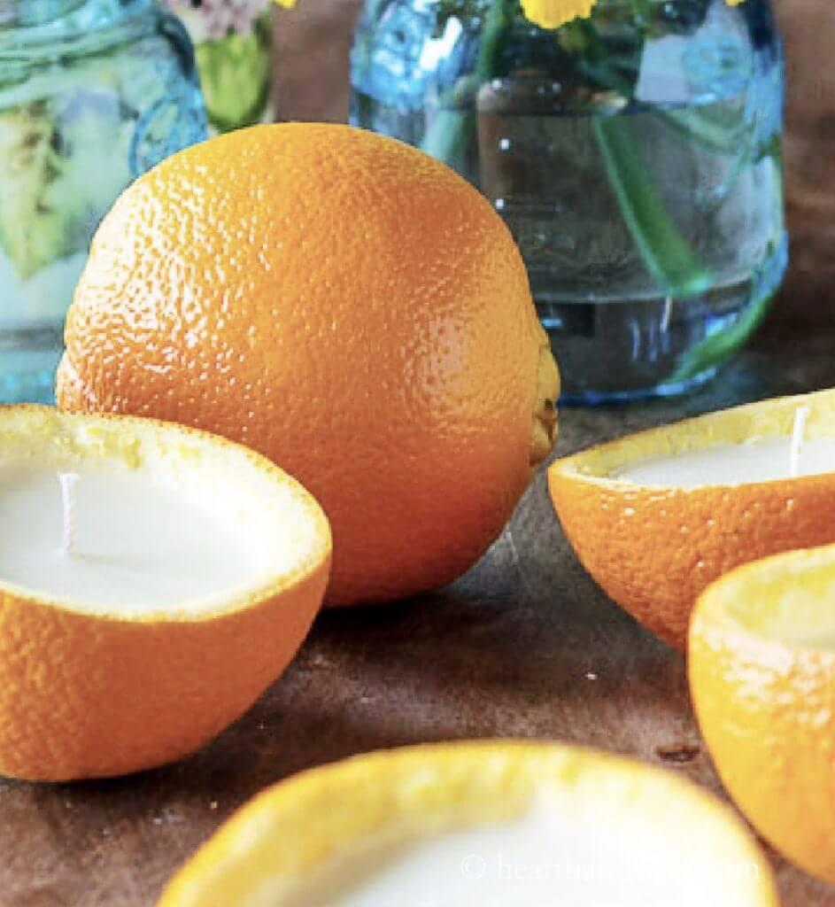 Orange Peel DIY Candles