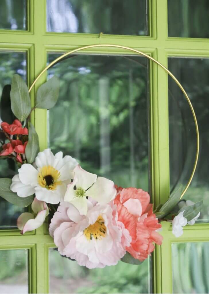 floral spring wreath ring boho