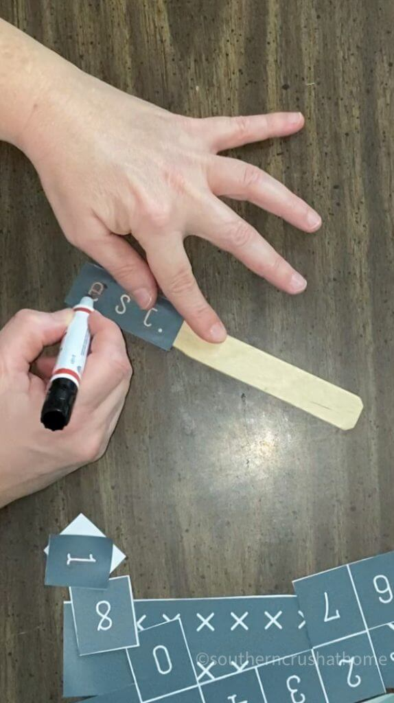 using scorch marker on wood stick