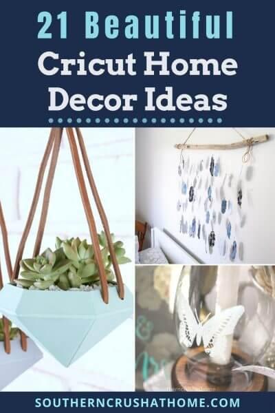 cricut home decor crafts collage