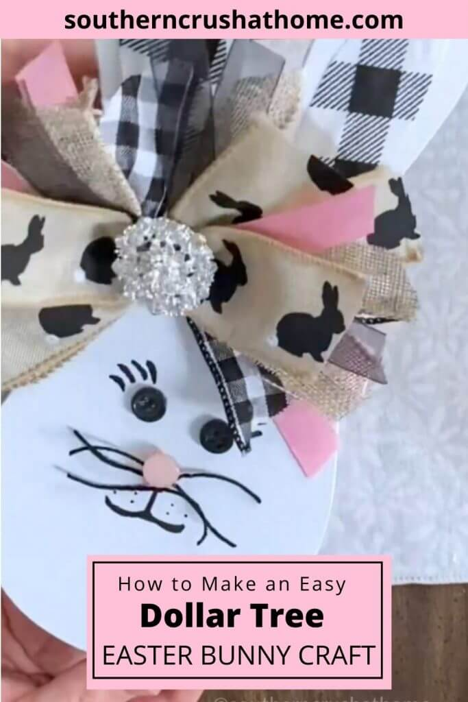 dollar tree paddle ball easter craft PIN