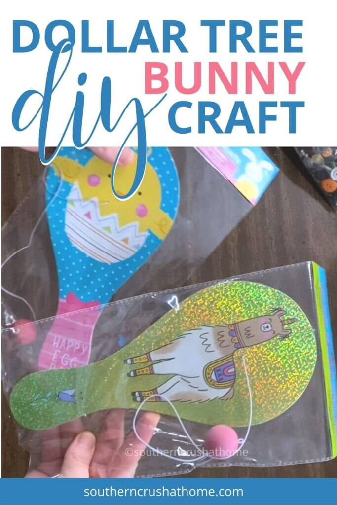 dollar tree paddle ball easter craft supplies