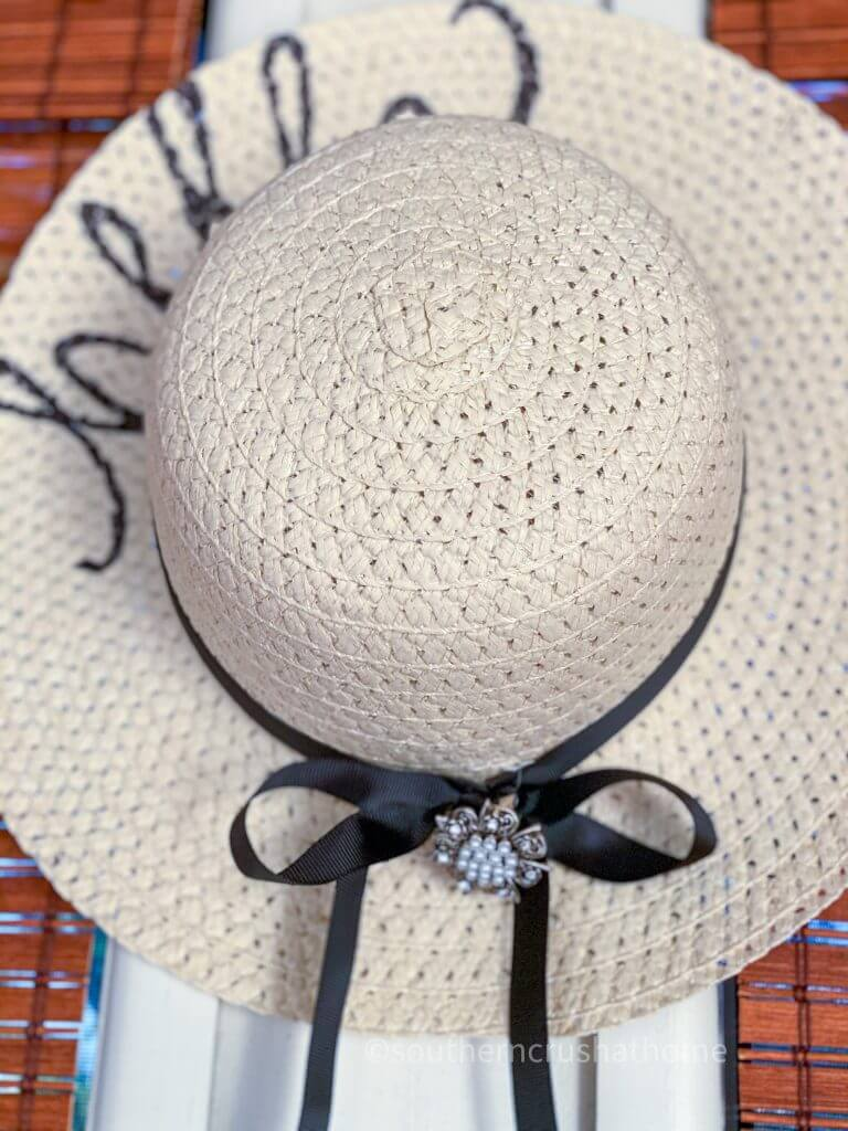 close up of sun hat decor