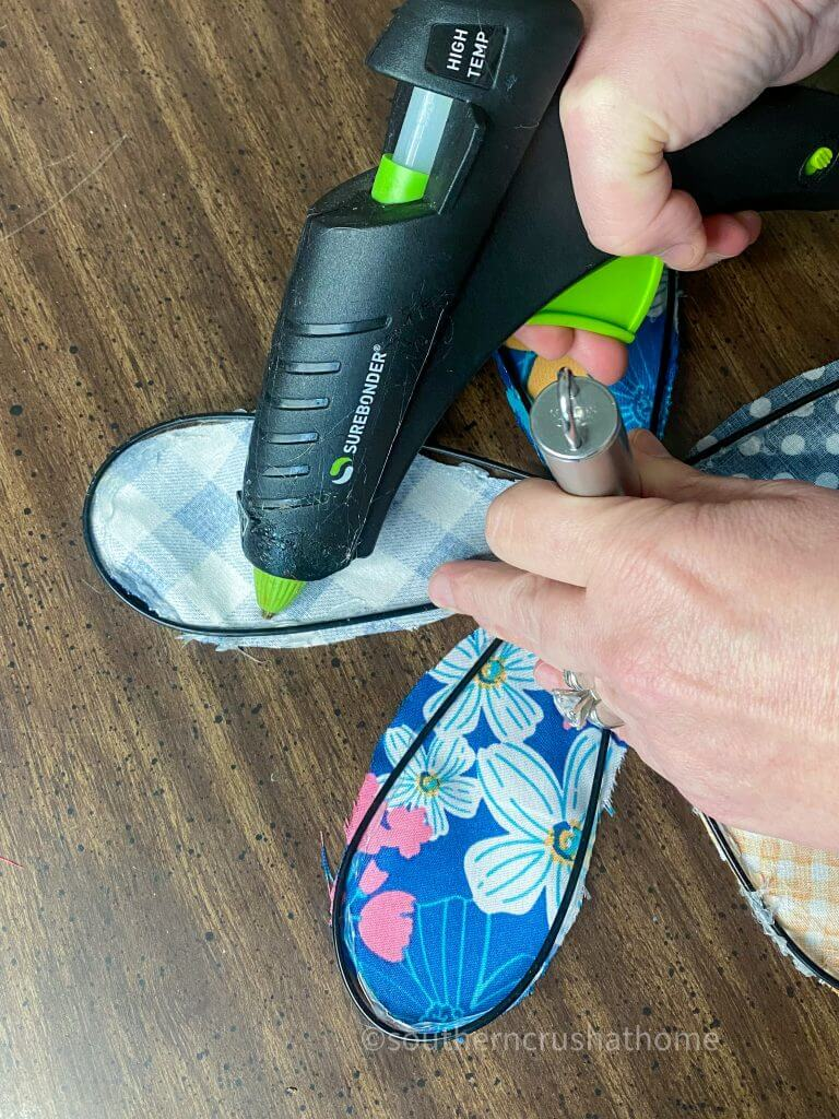 gluing fabric to kitchen whisk