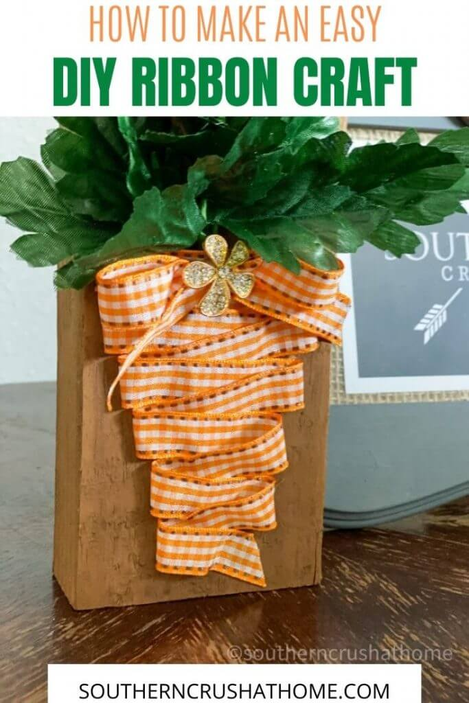 Easy Ribbon Craft DIY with text overlay pin image