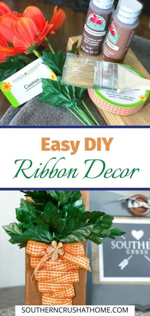 easy ribbon craft diy with text overlay pin collage