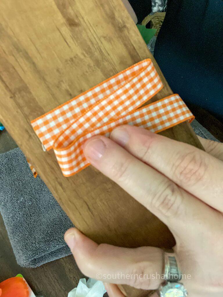 adding ribbon to wood