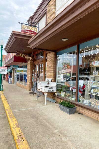 downtown shopping and bakery