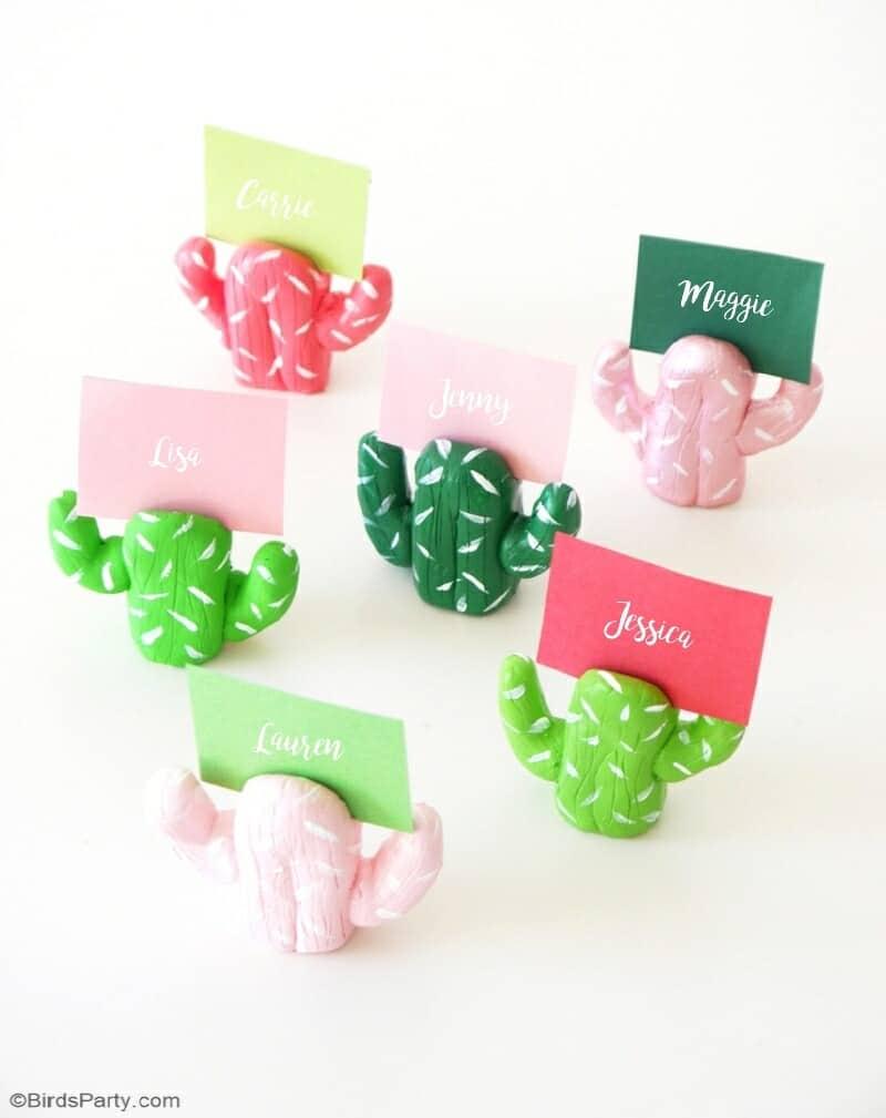 diy cactus place cards
