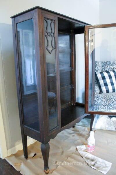 vintage cabinet upcycle before makeover