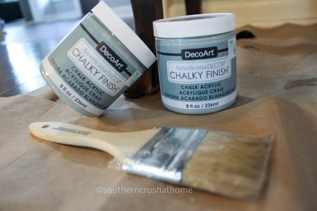 decoart chalky finish paint in gray