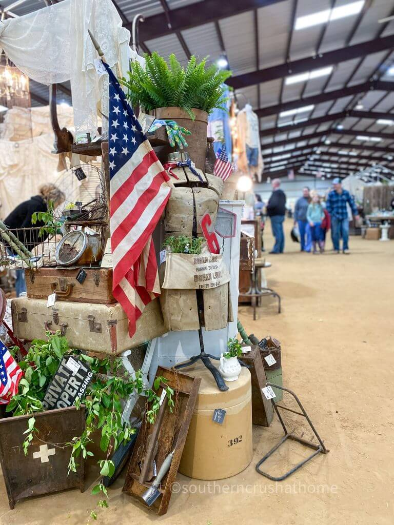 reclaimed fate vintage decor with flags