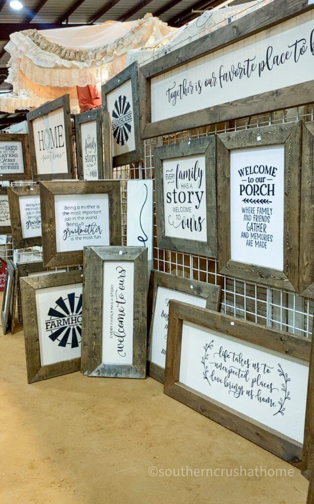 vintage chic custom wood canvas burlap printed signs