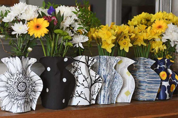 diy paper vase sleeves