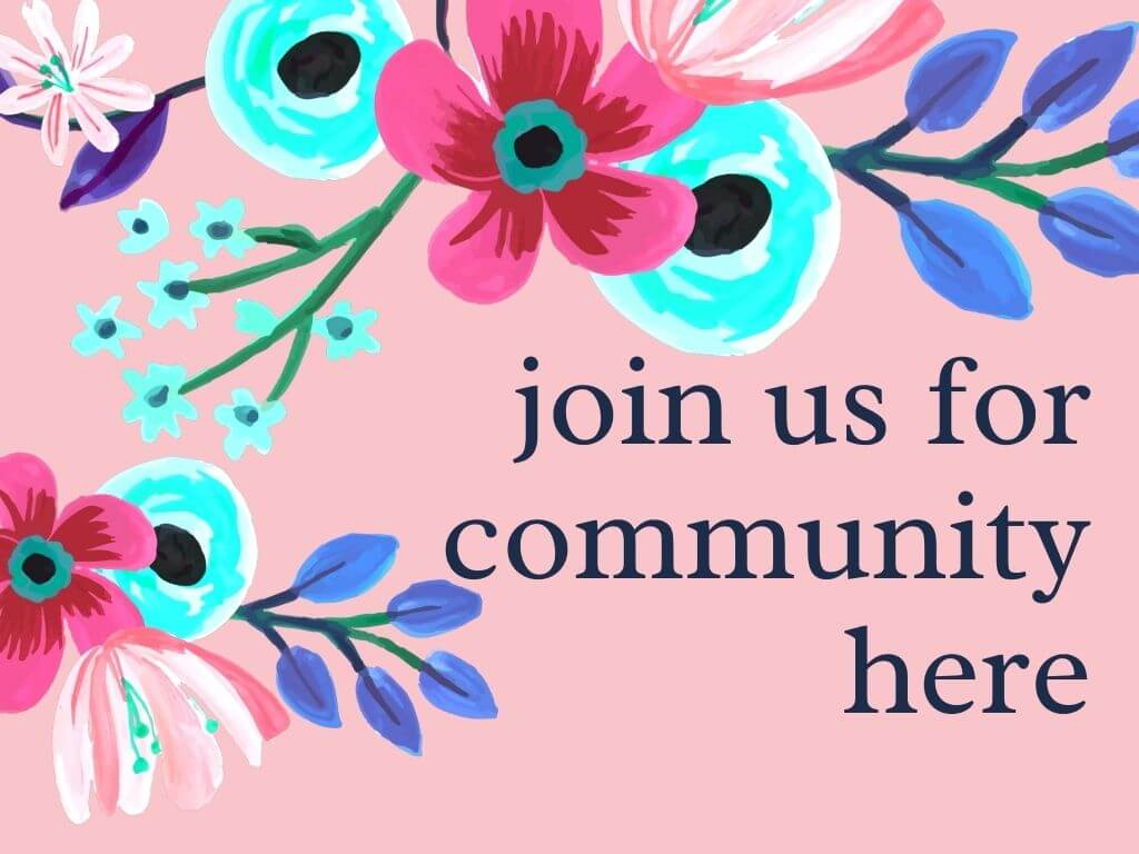 join us for community here