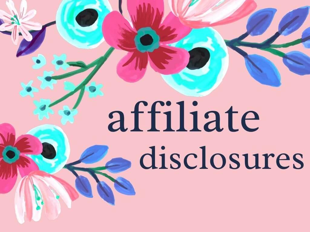 affiliate disclosures
