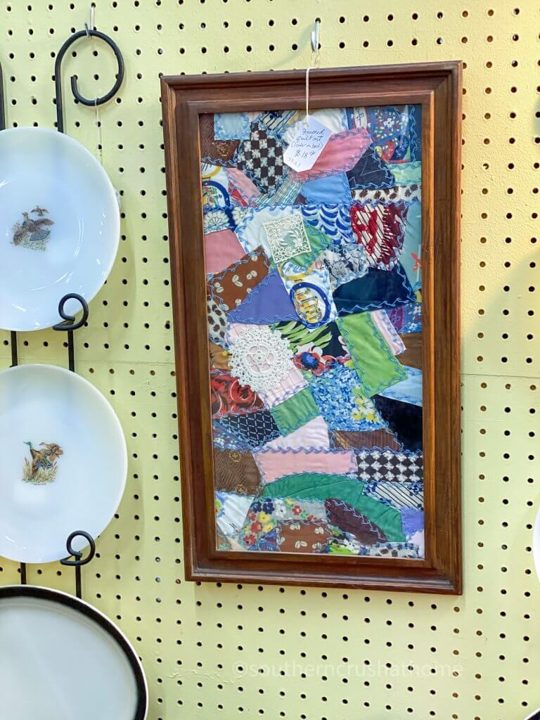 framed quilted craft