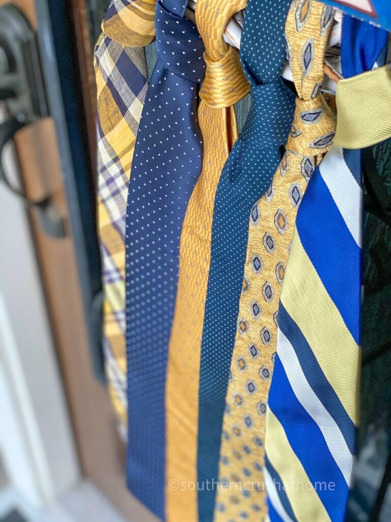 close up of neckties