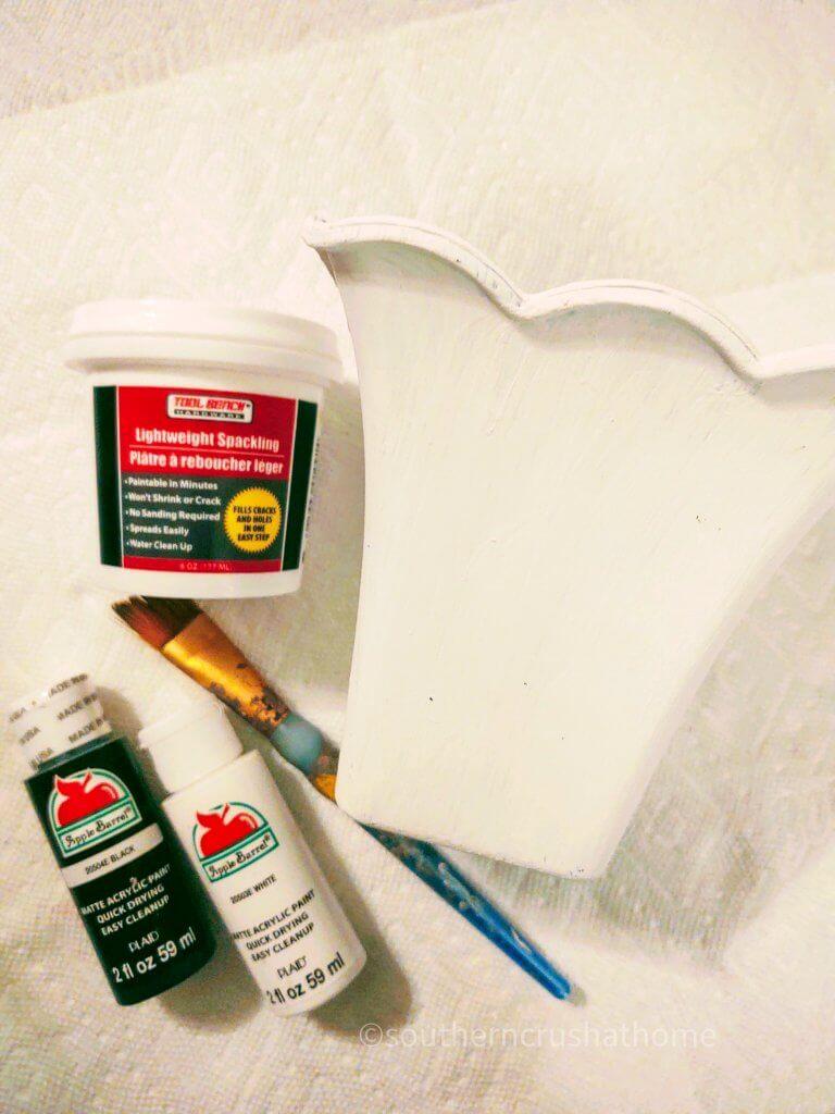 supplies for diy textured flower pot