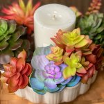 Faux Succulent Candle Ring