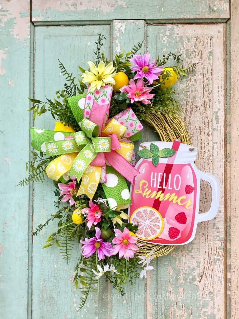 summer lemonade wreath