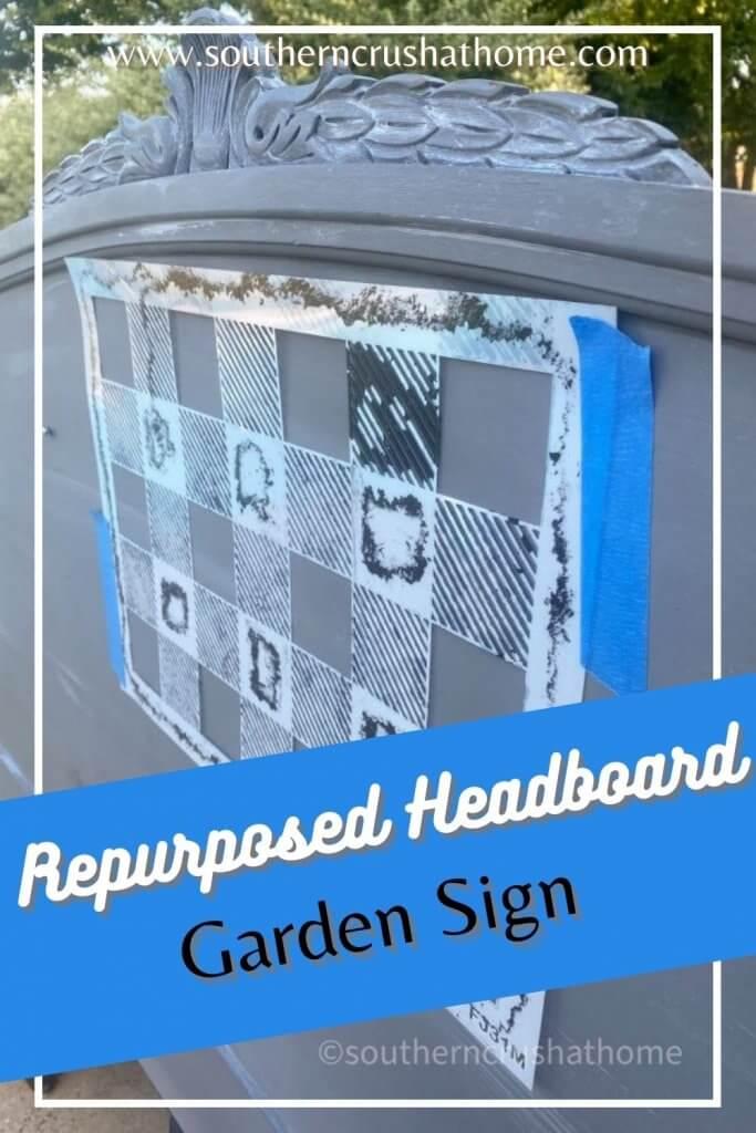 repurposed headboard pin image