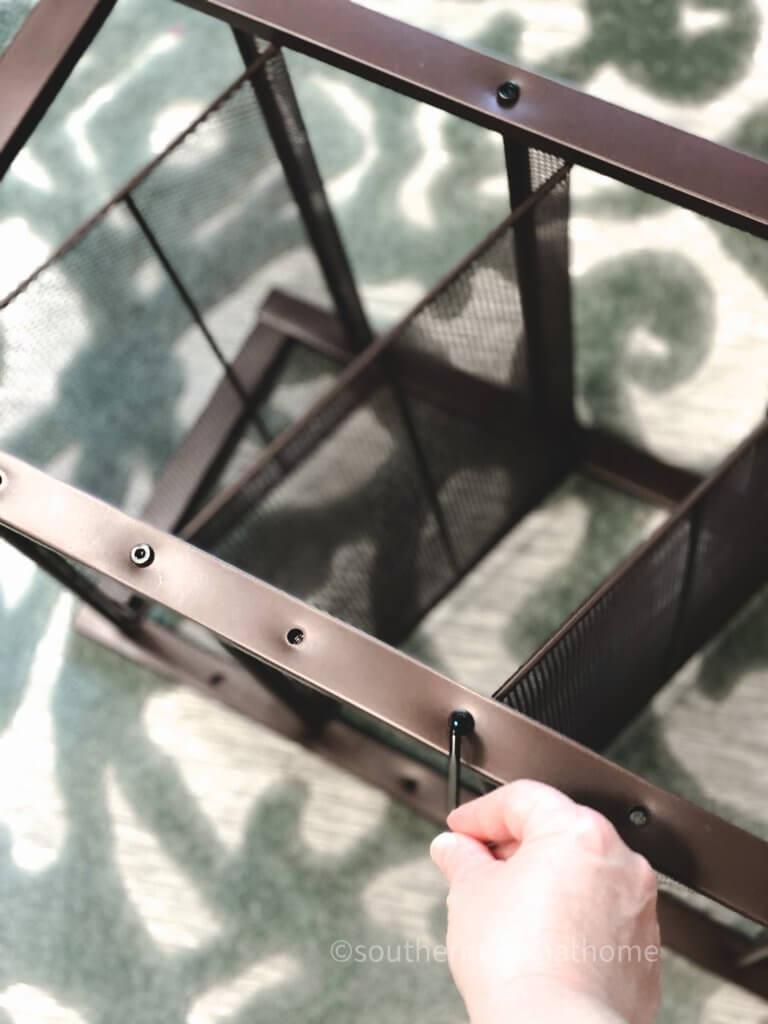 using allen wrench to tighten bolt