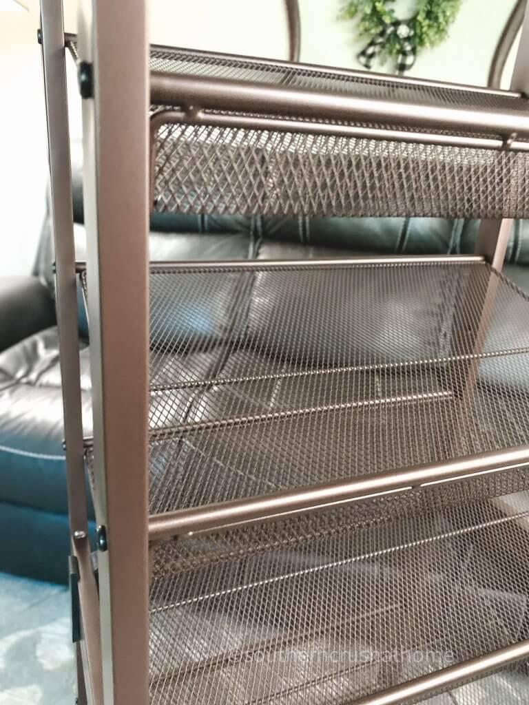 edge of ribbon storage rack