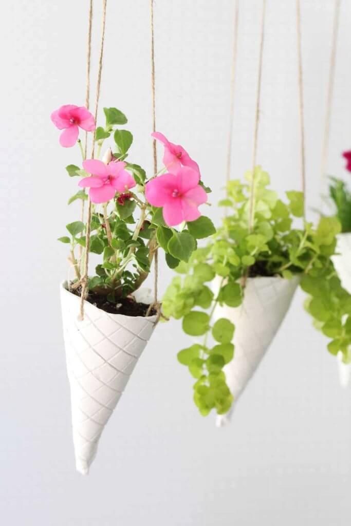 hanging flower cones