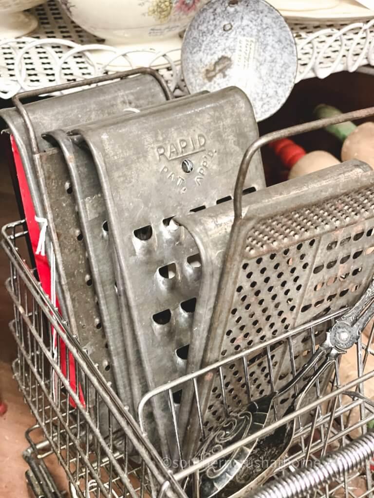 vintage rustic graters