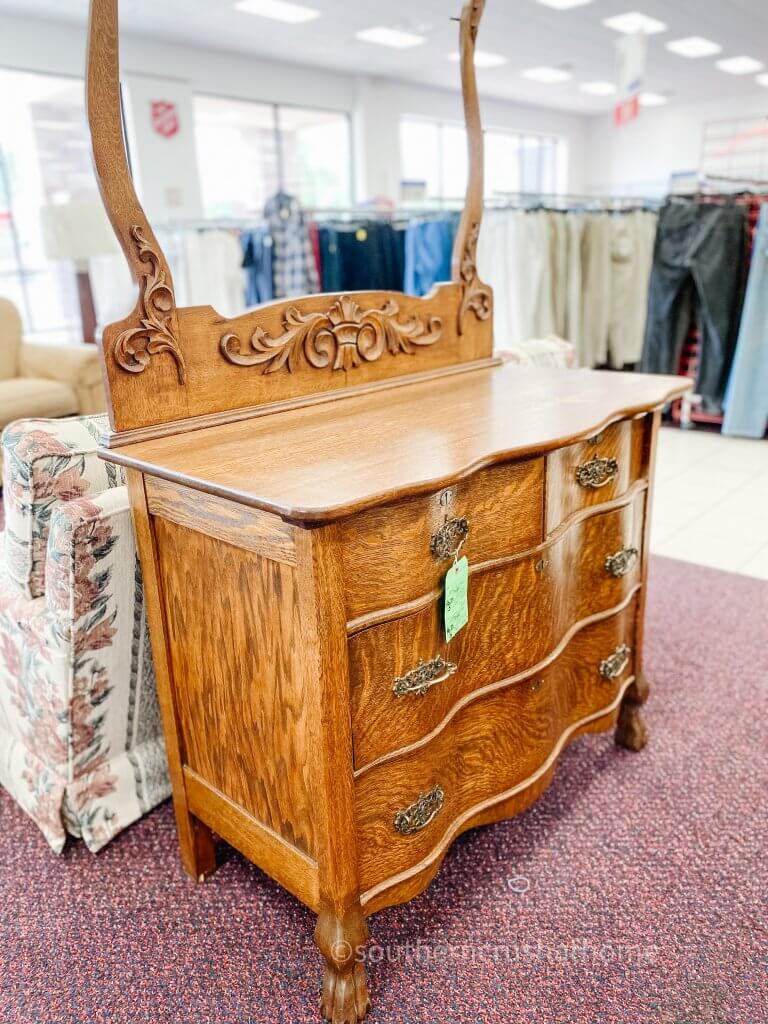 antique furniture at salvation army