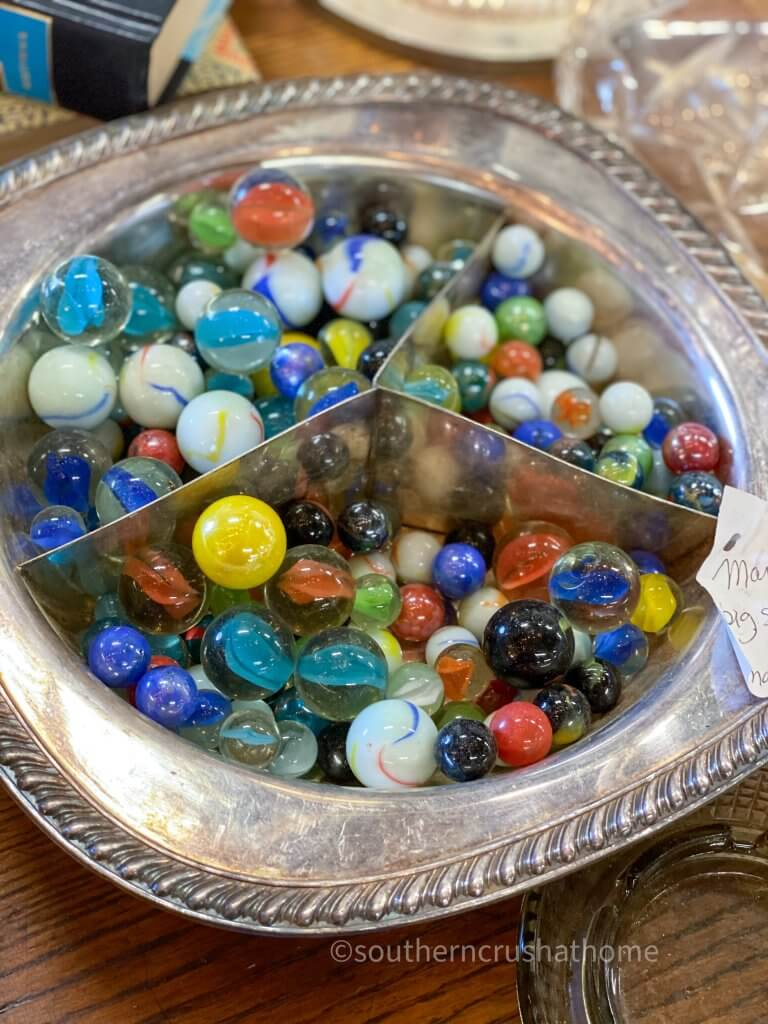 collection of colorful marbles